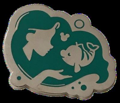 Ariel and Flounder Hidden Mickey Pin