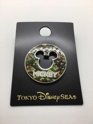 Mickey Camouflage Pin- Tokyo Disney Pin