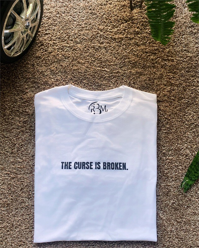 "WHITE ""THE CURSE IS BROKEN."" ADULT TEE"