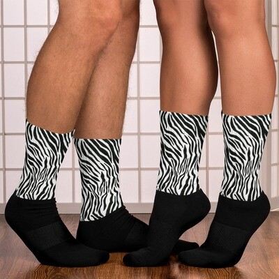 Zebra Print Socks