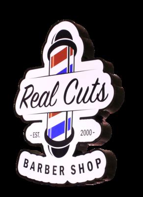 Front-Lit Die-Cut Cabinet Sign