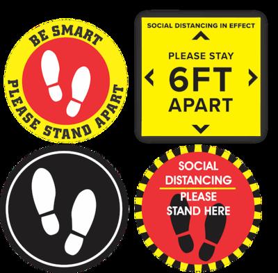 "Social Distance Floor Sticker - 12"""