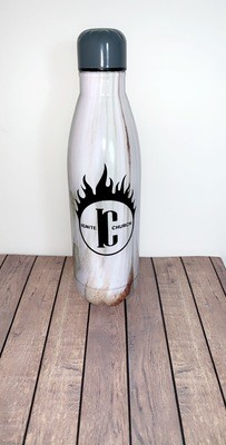 White/Wood Marble Ignite Water Bottle