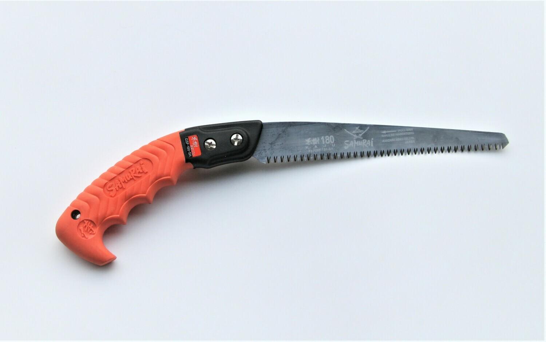 GSF 180mm. ilgio KAJU. Tiesus pjūklas medžių genėjimui  apsauginiame dėkle , dantų žingsnis 2,5mm.