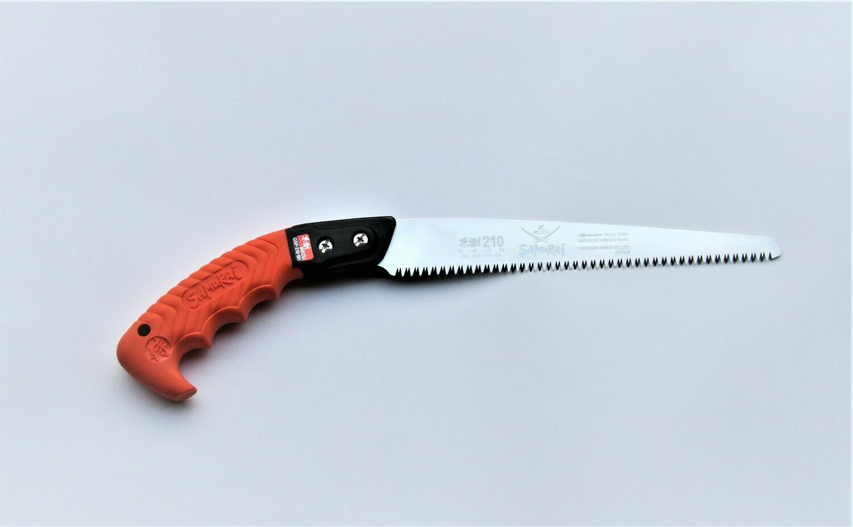 GSF 210mm. ilgio KAJU. Tiesus pjūklas medžių genėjimui  apsauginiame dėkle , dantų žingsnis 2,5mm.