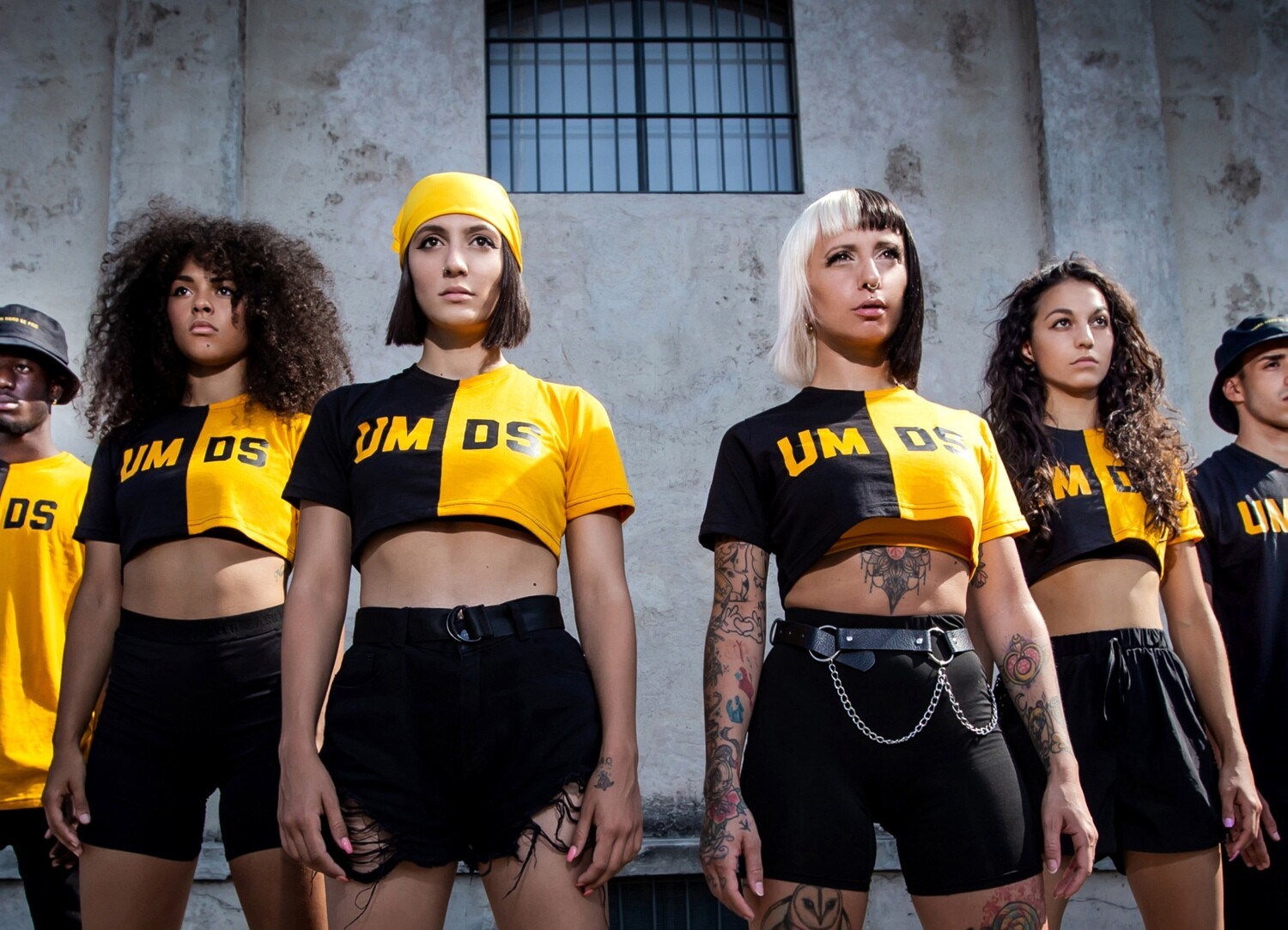 cropped double female t-shirt UMDS