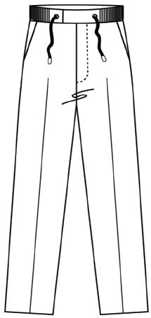 Drawstring Trouser Stretch Fabric