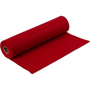 Felt - Antique Red (FULL 5 METRE ROLL) W:45cm, thickness 1,5 mm, 180-200 g/m2