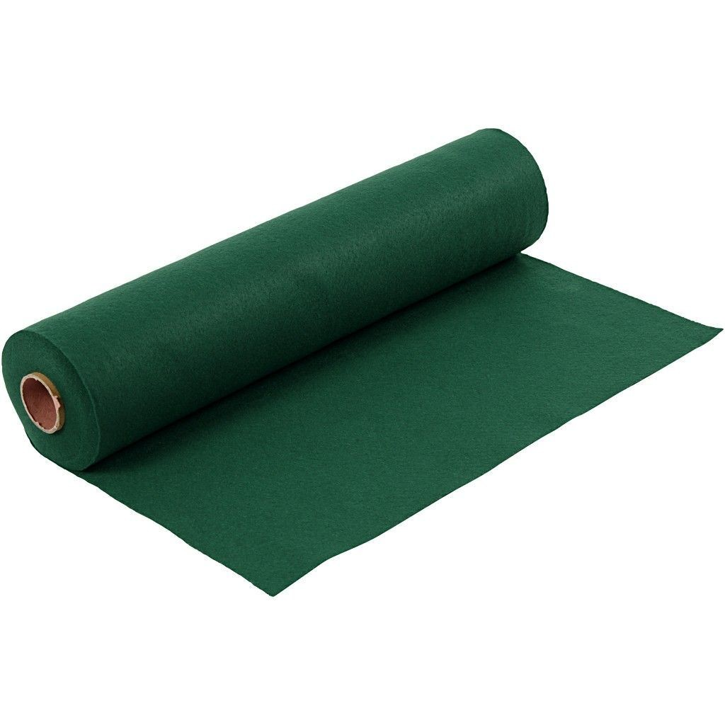 Felt - Dark Green (by the metre) W:45cm, thickness 1,5 mm, 180-200 g/m2