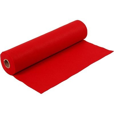 Felt - Bright Red (FULL 5 METRE ROLL) W:45cm, thickness 1,5 mm, 180-200 g/m2