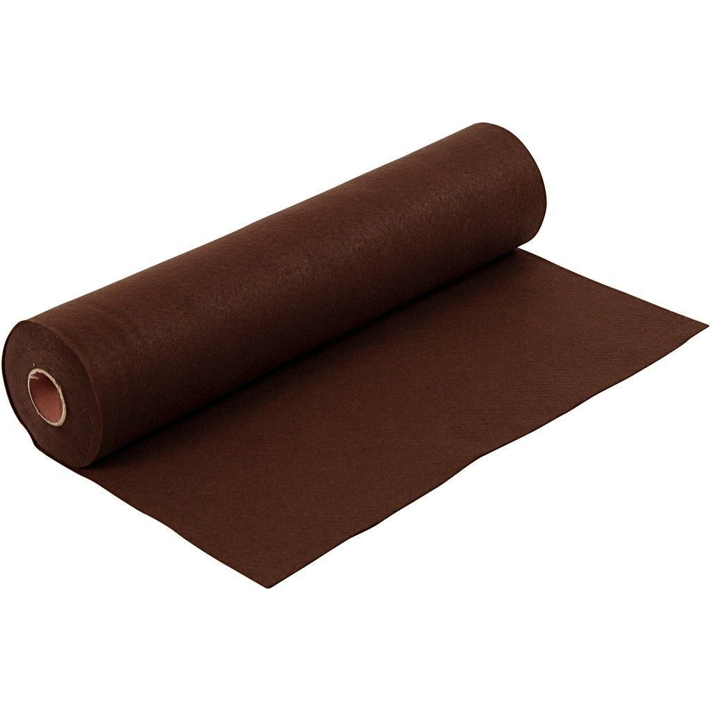Felt - Dark Brown (by the metre) W:45cm, thickness 1,5 mm, 180-200 g/m2