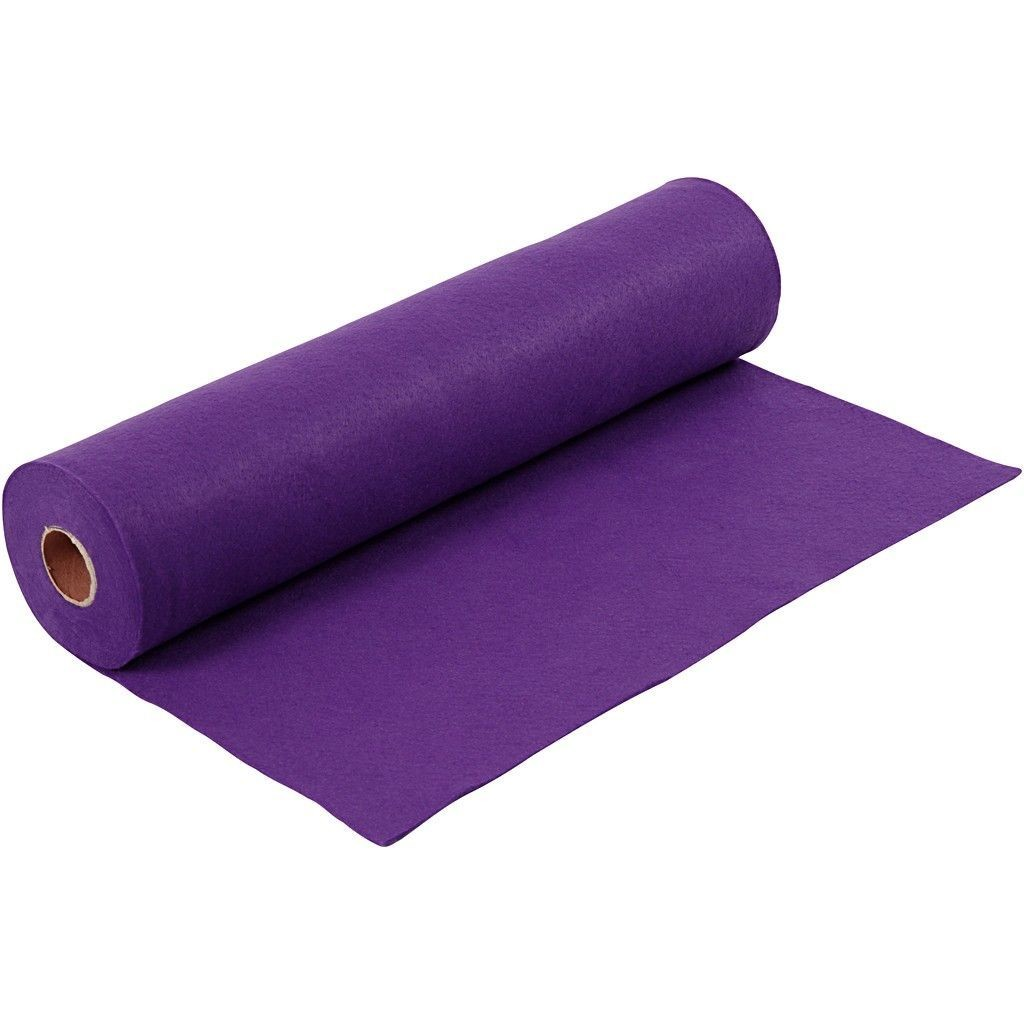 Felt - Purple (FULL 5 METRE ROLL) W:45cm, thickness 1,5 mm, 180-200 g/m2