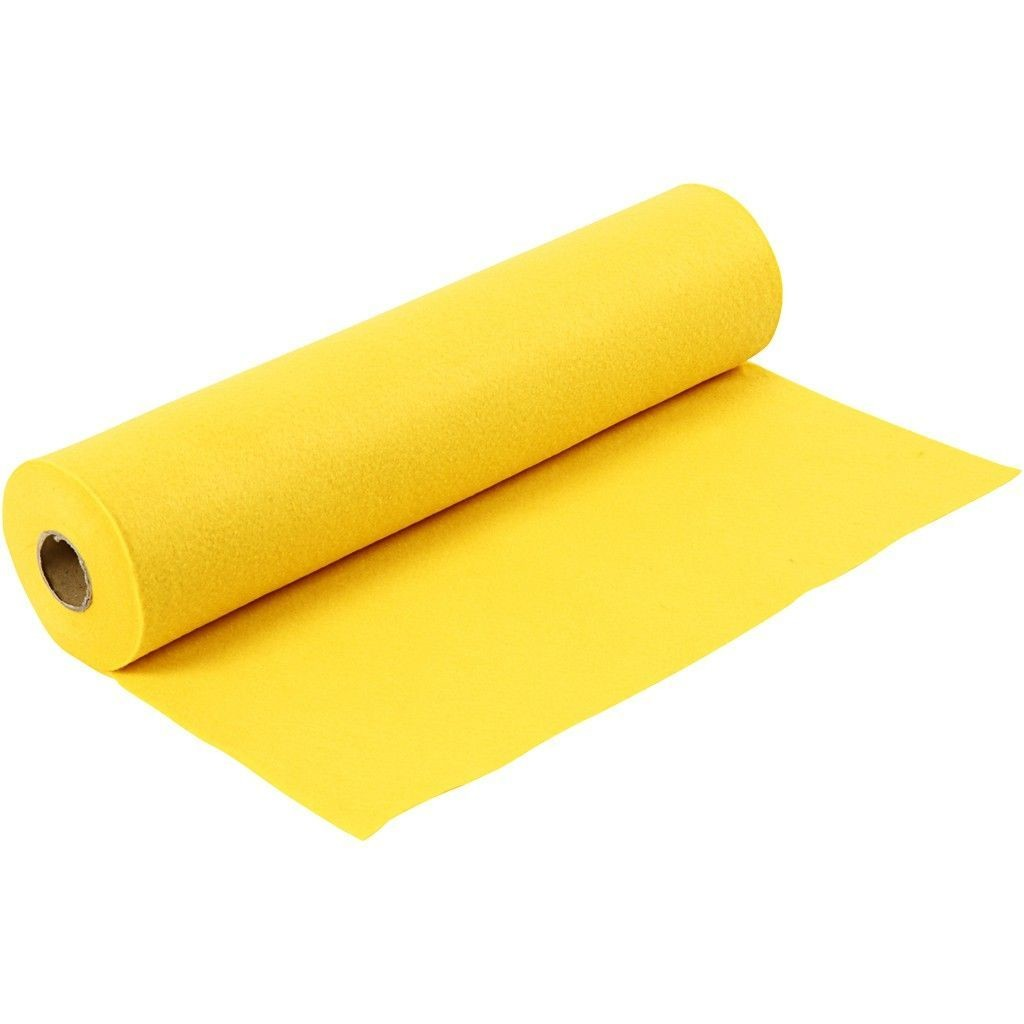 Felt - Yellow (FULL 5 METRE ROLL) W:45cm, thickness 1,5 mm, 180-200 g/m2