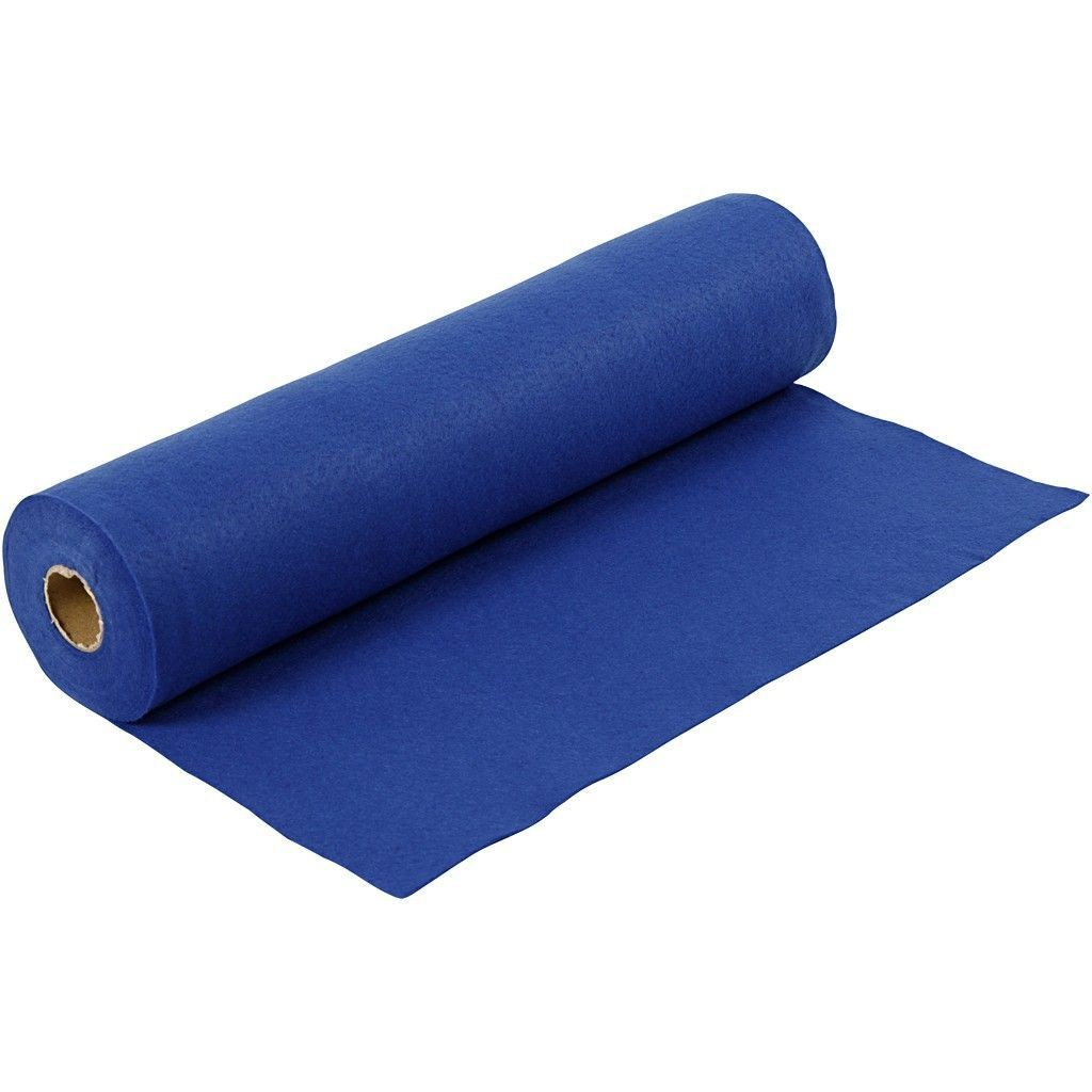 Felt - Dark Blue (by the metre) W:45cm, thickness 1,5 mm, 180-200 g/m2