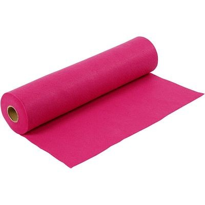 Felt - Cerise (FULL 5 METRE ROLL) W:45cm, thickness 1,5 mm, 180-200 g/m2