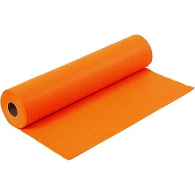 Felt - Orange (FULL 5 METRE ROLL) W:45cm, thickness 1,5 mm, 180-200 g/m2