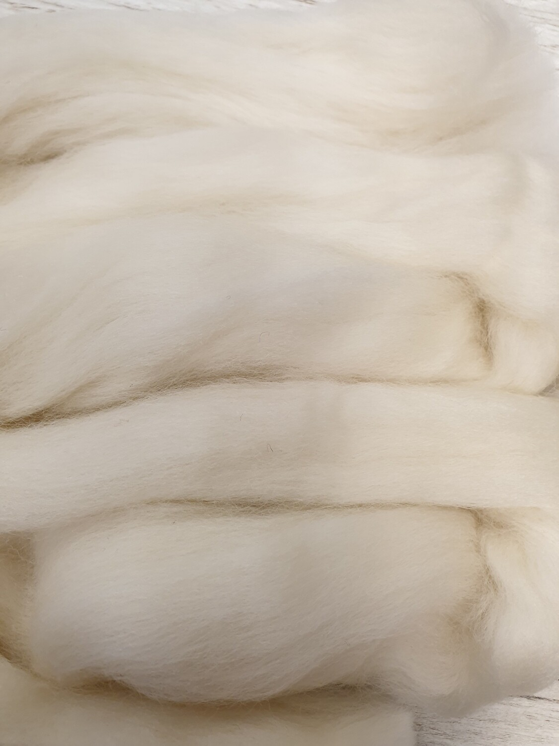 100% Merino Felting Wool 25g - Antique White