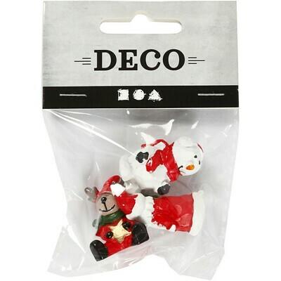 Christmas mini figures. Santa, Reindeer & Snowman