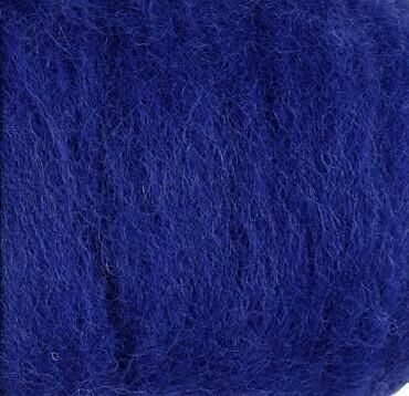 Carded Felting Wool  20 g - Royal Blue