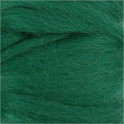 100% Merino Felting Wool - Green - 25g