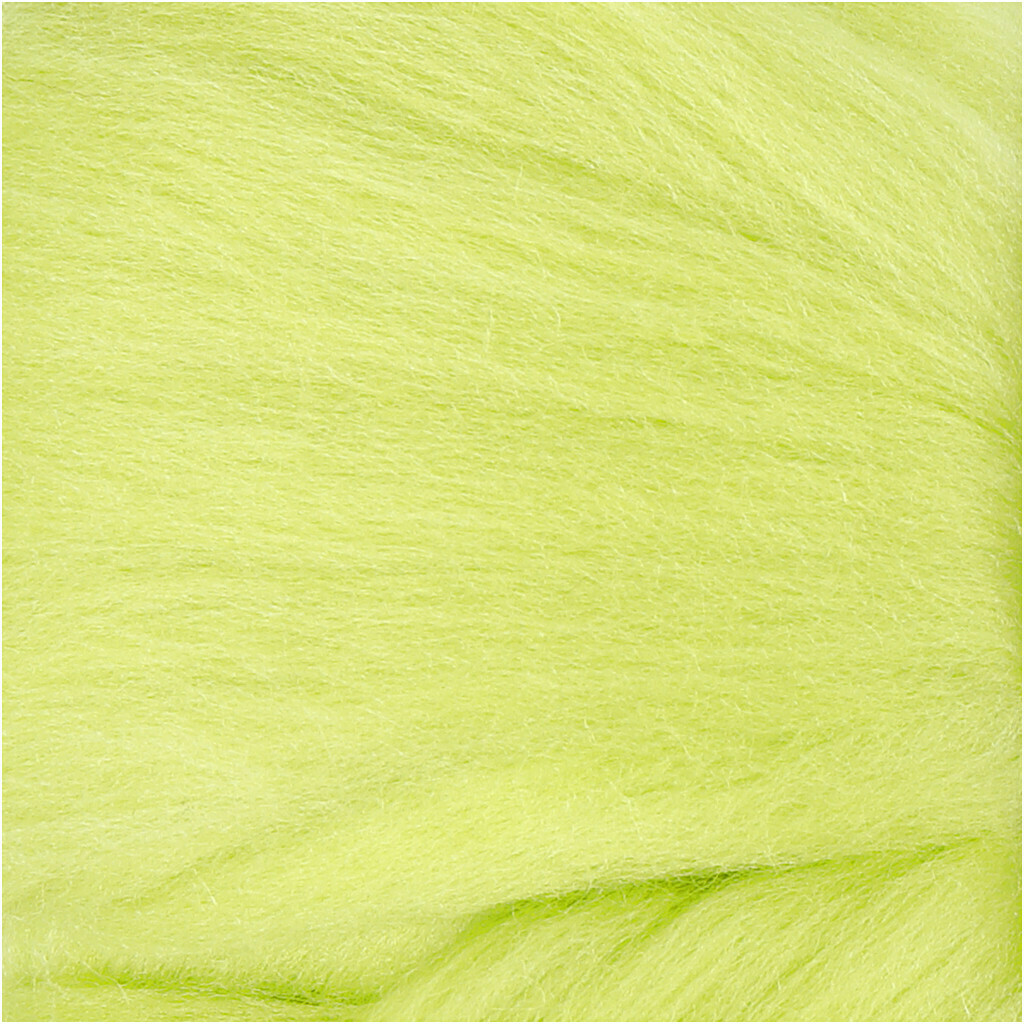 100% Merino Felting Wool - Lime Green - 25g