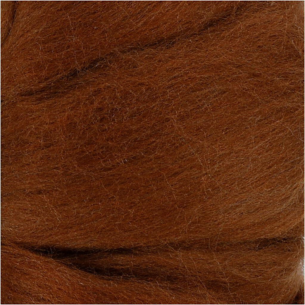 100% Merino Felting Wool - Brown - 25g