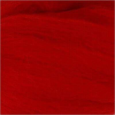 100% Merino Felting Wool - Christmas Red - 25g