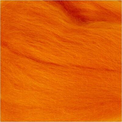 100% Merino Felting Wool - Orange - 25g