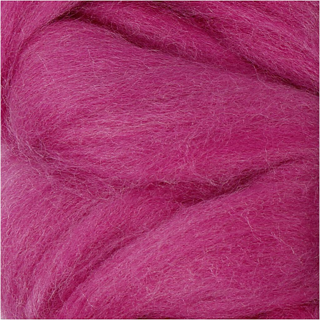 100% Merino Felting Wool - Cerise - 25g