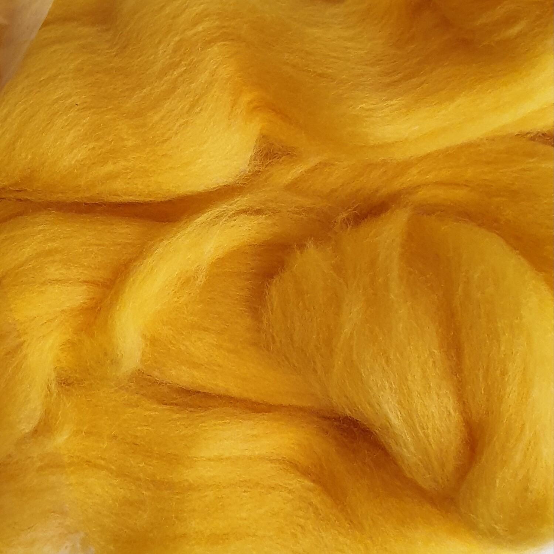 100% Merino Felting Wool - Mustard Yellow - 25g