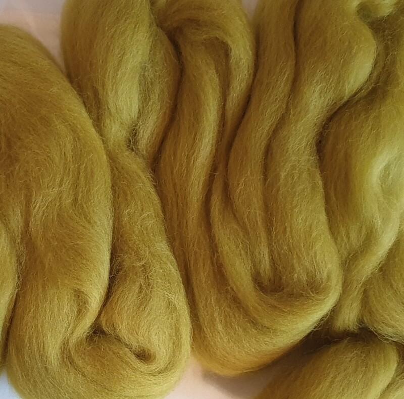100% Merino Felting Wool - Olive Green - 25g