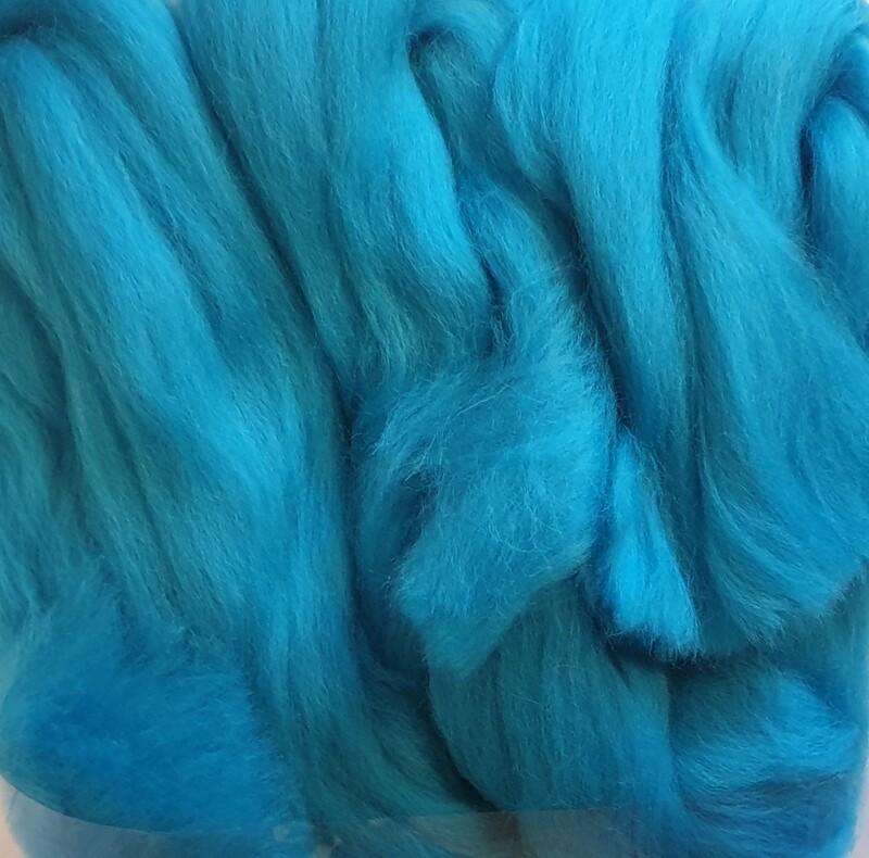 100% Merino Felting Wool - Turquoise - 25g