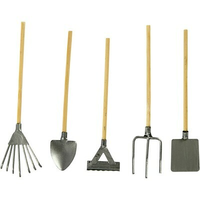 Mini Garden Tools, L 11 cm, 5pcs