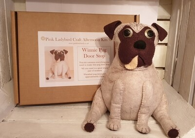 Craft Afternoon Kit - Winnie Pug Door Stop