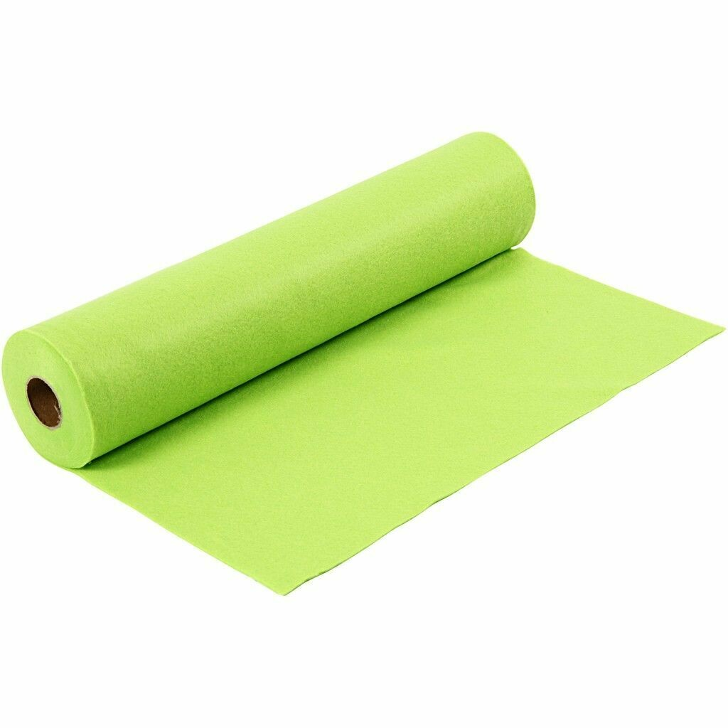 Felt - Lime Green (FULL 5 METRE ROLL) W:45cm, thickness 1,5 mm, 180-200 g/m2