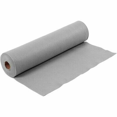 Felt - Grey (FULL 5 METRE ROLL) W:45cm, thickness 1,5 mm, 180-200 g/m2