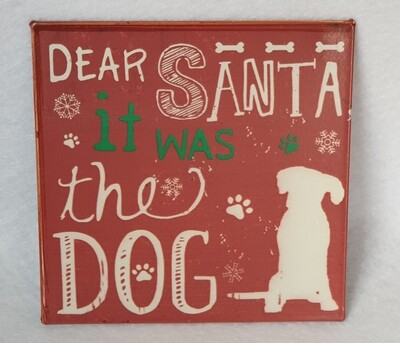 'It was the dog' Christmas fridge magnet