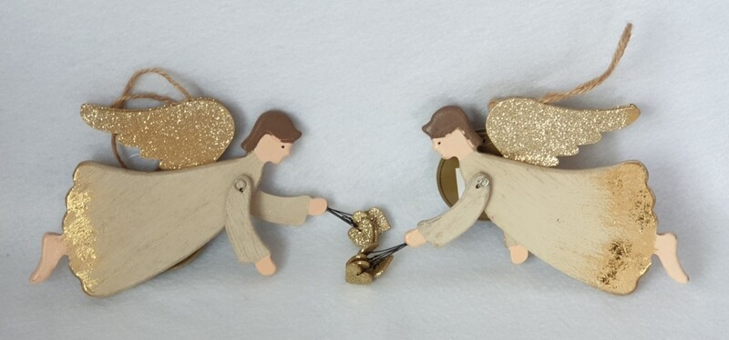 Flying Christmas Angels - set of 2 - Sass & Belle