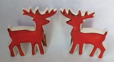 Ceramic Reindeer Christmas decorations - Set of 2
