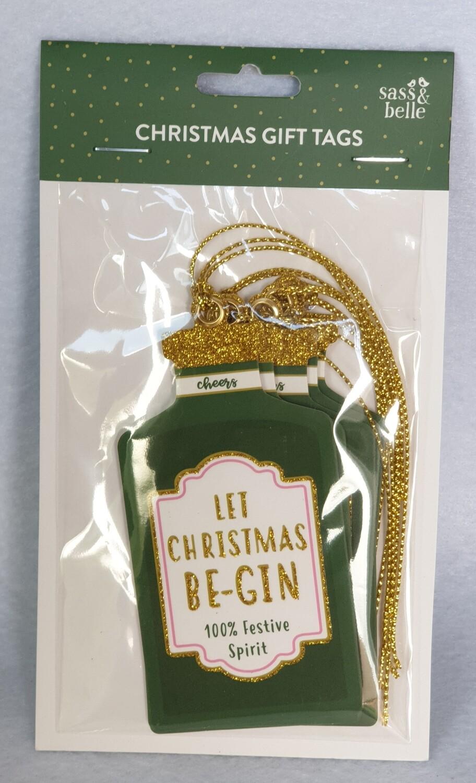 Christmas gift tags - 'Let Christmas be-gin'