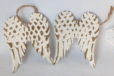 Rustic Metal Wings - Hanging decoration