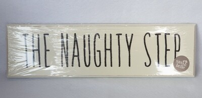 Wooden sign - 'Naughty Step'