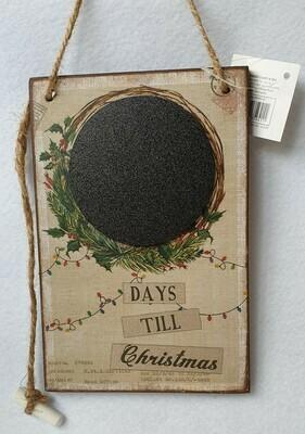 Sass & Belle. Days till Christmas chalk board count down.