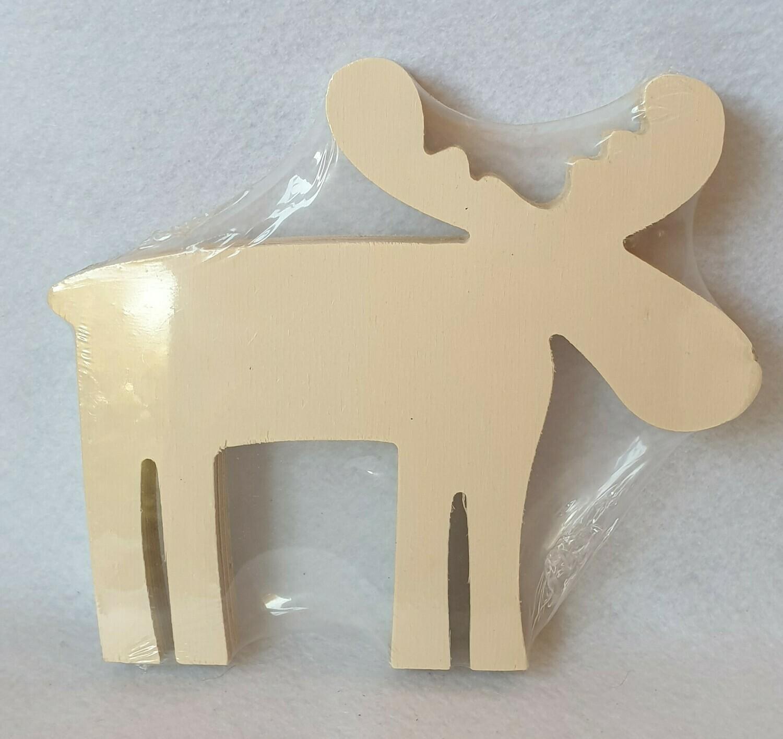 wooden Reindeer/moose. Untreated wood