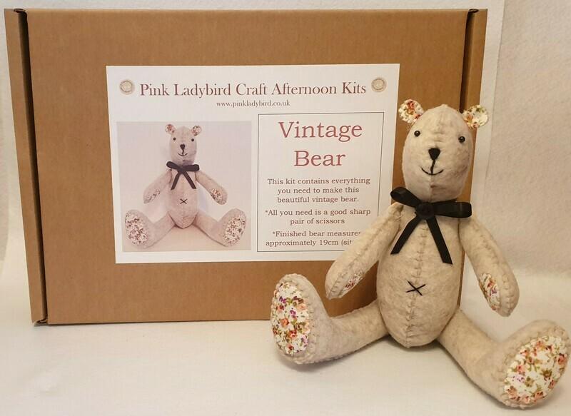 Craft Afternoon Kit - Vintage Bear