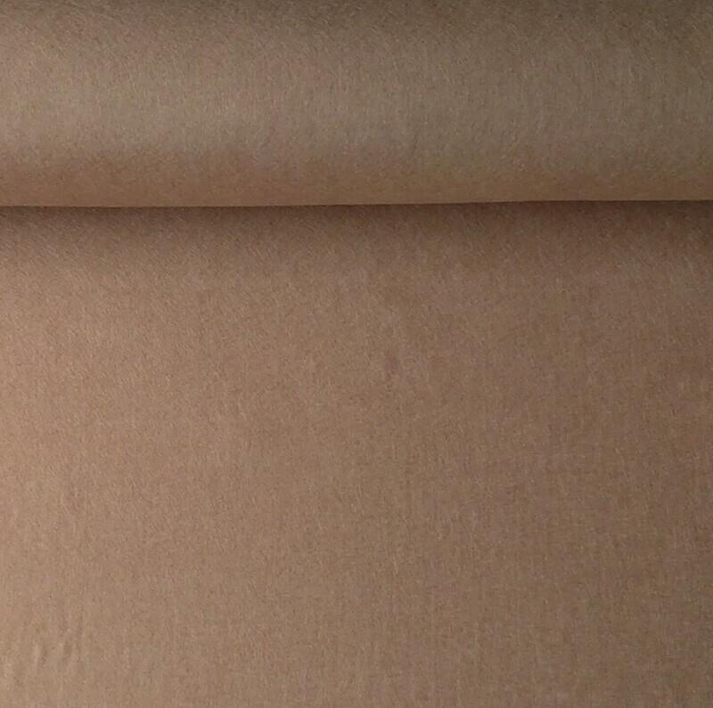 Acrylic felt 45cm wide. 1/2 metre. TEDDY. BS EN 71 part 2 & 3 tested.