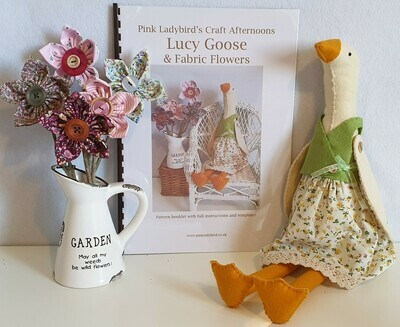 Sewing Pattern Booklet. Lucy Goose & Fabric Flowers