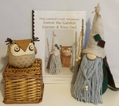 Sewing Pattern Booklet. Nordic Forest Gnome & Wise Owl