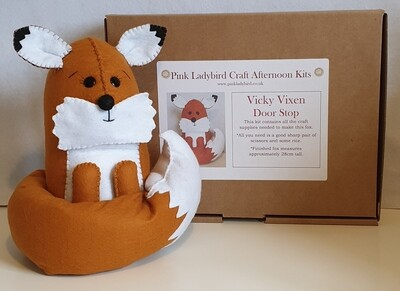 Craft Afternoon Kit - Vicky Vixen Door Stop