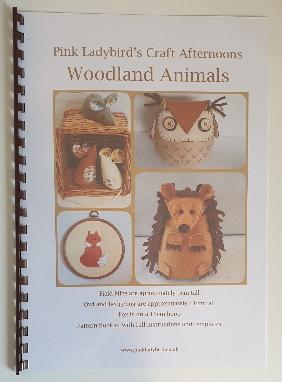 Sewing Pattern Booklet. Woodland Animals